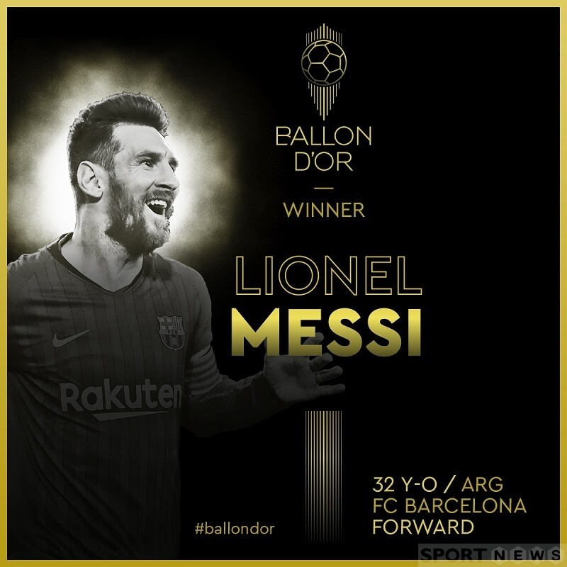 Messi was the 6th Golden Ball in his career