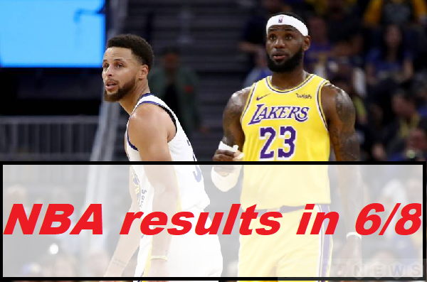 NBA results in 6/8