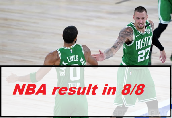 NBA result in 8/8